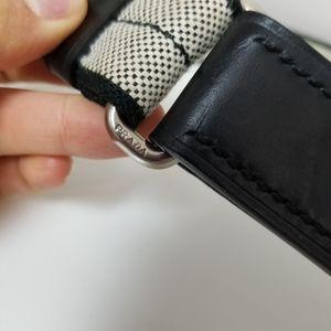 Prada fabric and leather belt